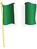 Vektor Cliparts: Flagge von Nigeria