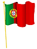 Vektor Cliparts: die Flagge Portugals
