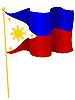 Vektor Cliparts: die Flagge Philippinen