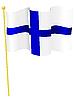 Vektor Cliparts: die Flagge Finnland