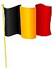 Vector clipart: flag Belgium