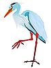 Vector clipart: gray heron