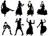 Векторный клипарт: Набор изображений танцоров