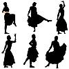 Векторный клипарт: Коллекция образов танцовщиц