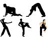 Векторный клипарт: Набор фотографий гимнастов