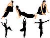 Векторный клипарт: Коллекция с гимнастками