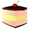 Векторный клипарт: Пирог с вишней.