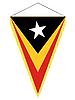 Wimpel mit der Nationalflagge von Ost-Timor