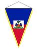 Vector clipart: pennant with the national flag of Haiti