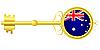Векторный клипарт: Золотой ключик для Австралии