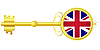 Golden key for United Kingdom