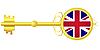 Vector clipart: Golden key for United Kingdom
