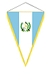 Vector clipart: pennant with the national flag of Guatemala