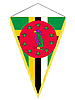 Vector clipart: pennant with the national flag of Dominica