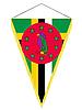 Векторный клипарт: вымпел с государственным флагом Доминики