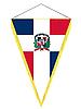 Векторный клипарт: вымпел с государственным флагом Доминиканской Республике