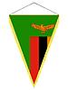 Векторный клипарт: вымпел с государственным флагом Замбии