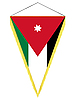 Vector clipart: pennant with the national flag of Jordan