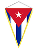 Vector clipart: pennant with the national flag of Cuba