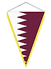 Vector clipart: pennant with the national flag of Qatar