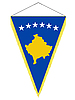 Vector clipart: pennant with the national flag of Kosovo