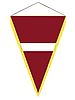 Vector clipart: pennant with the national flag of Latvia