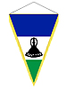 Vector clipart: pennant with the national flag of Lesotho
