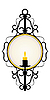 Vector clipart: Candle and mirror in frame