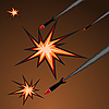 Vector clipart: missile attack