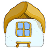 Vector clipart: home with bench