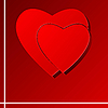 Vector clipart: background with puzzle at the heart