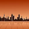 Vector clipart: City at dawn.
