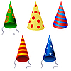 Vector clipart: Set of festive caps
