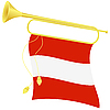 bugle with flag Austria