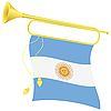 bugle with flag Argentina