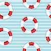 Vector clipart: Seamless texture of life preserver