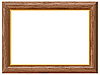 Vector clipart: Wooden frame with gold rim