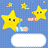 Vector clipart: Children and stars.