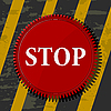 Vector clipart: red stop button