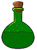Vector clipart: The green bottle with cork