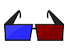 Vector clipart: 3d Movie Glasses