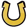 Vector clipart: Golden horseshoe