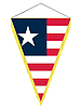 Vector clipart: pennant with the national flag of Liberia