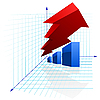 Vector clipart: Colorful graph with arrow