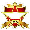 Vector clipart: gold star with the flag of Austria