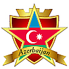 gold star to the flag of Azerbaijan