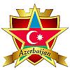 Vector clipart: gold star to the flag of Azerbaijan