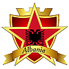 gold star to the flag of Albania the