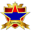 gold star with flag of Armenia