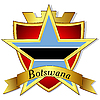 gold star to the flag of Botswana t